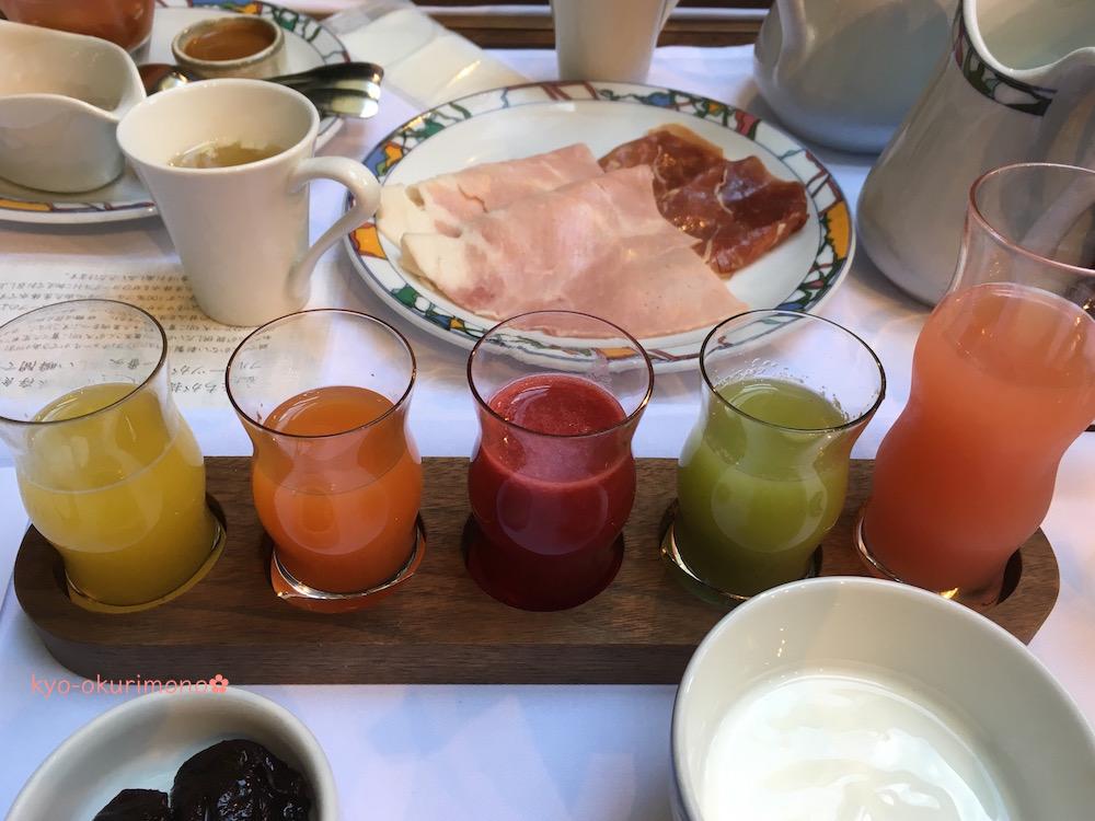神戸北野ホテル世界一の朝食の自家製ジュース