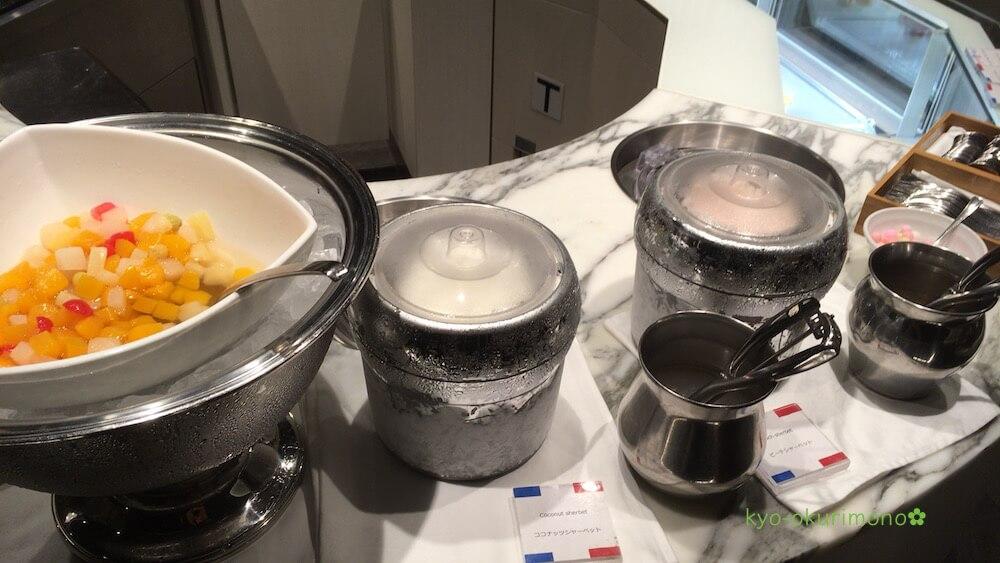 リーガロイヤルホテル京都のランチビュッフェメニュー・アイスクリーム