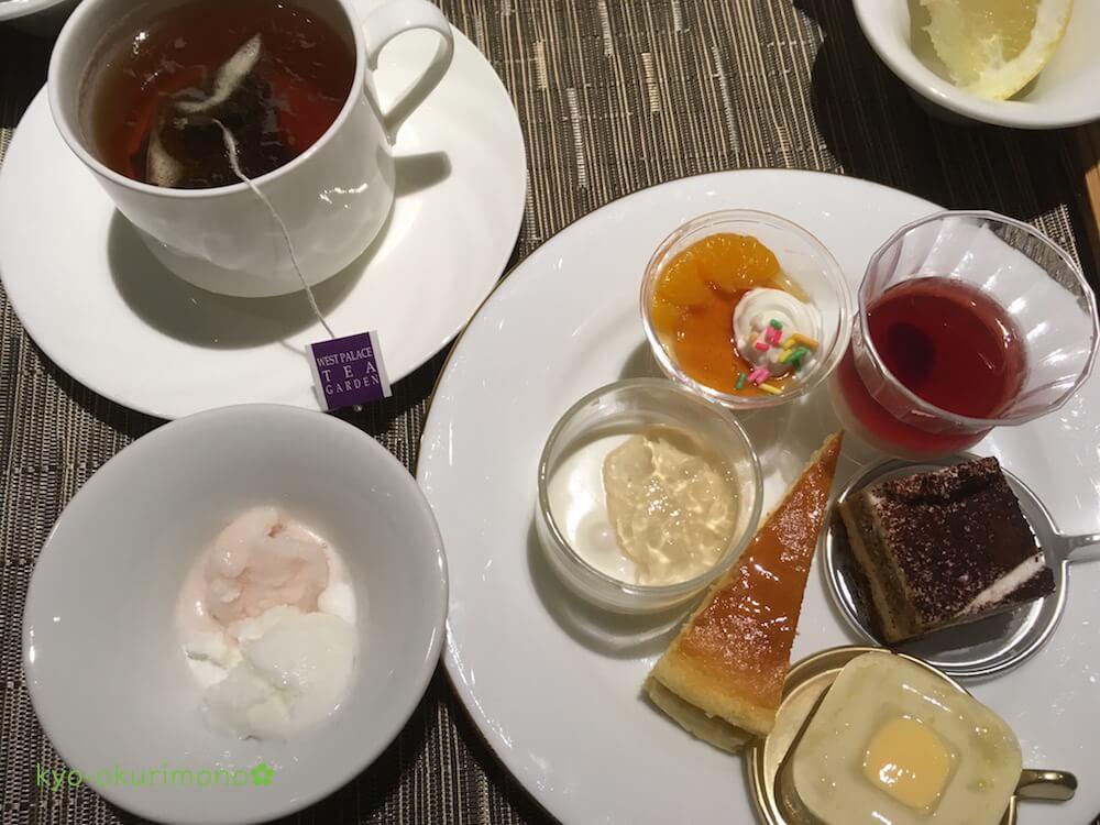 リーガロイヤルホテル京都のランチビュッフェメニュー・デザート