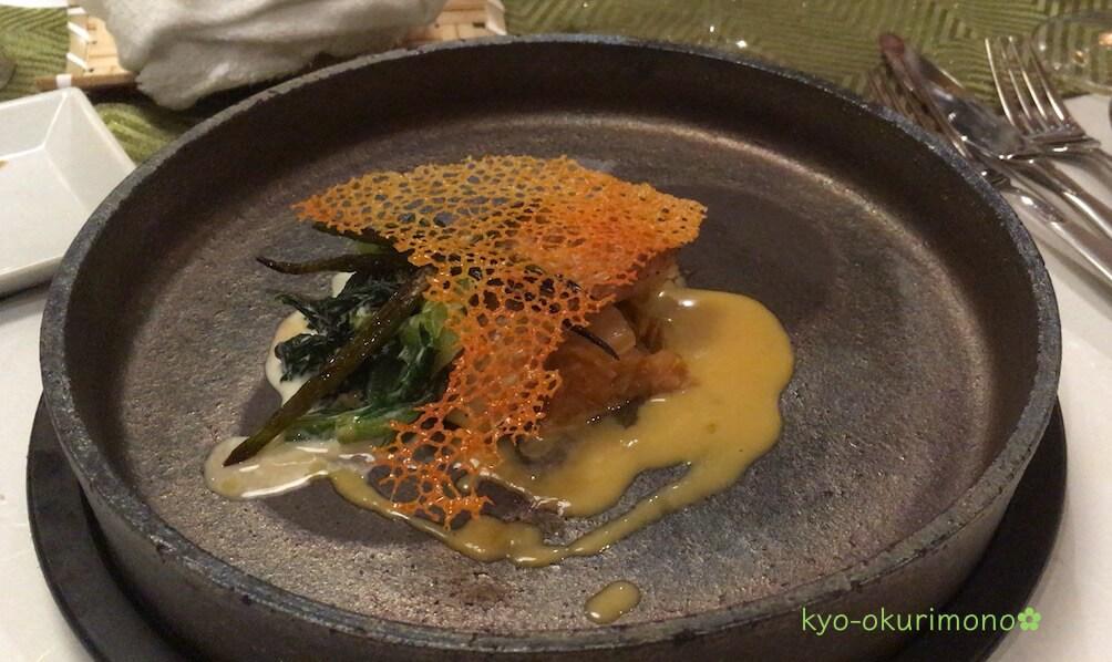 金閣寺の町家フレンチ、京都喜Shinのディナー・魚料理2