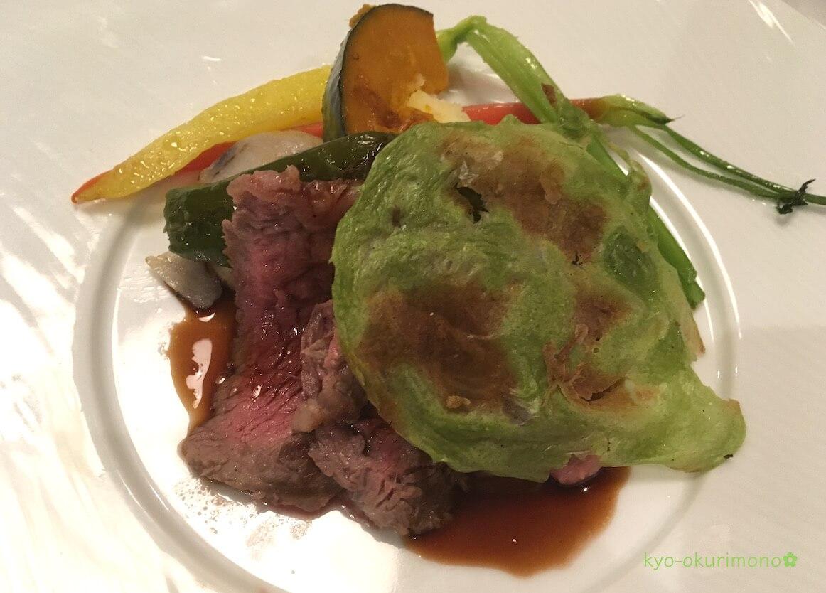 金閣寺の町家フレンチ、京都喜Shinのディナー・牛ステーキ