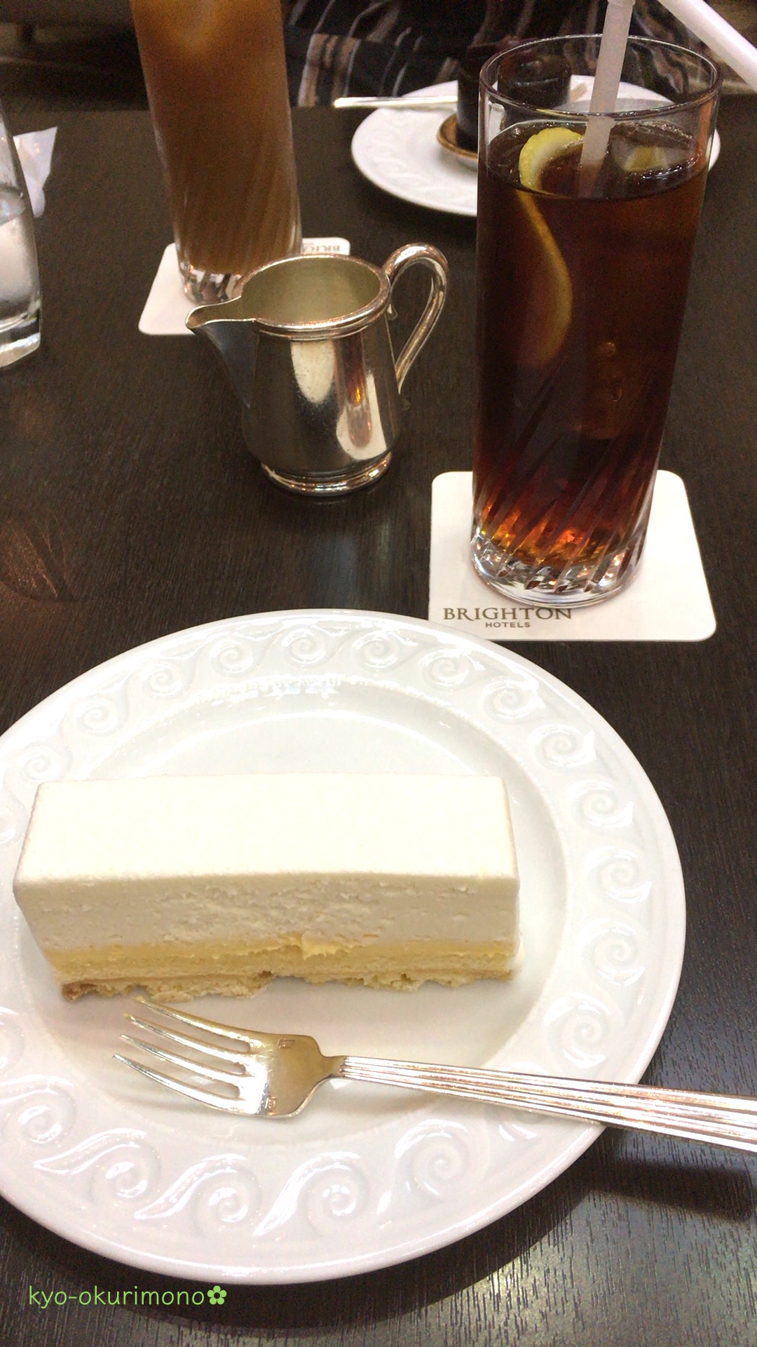 京都ブライトンホテルのケーキ