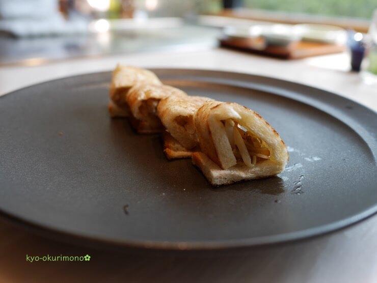京都ブライトンホテルの鉄板焼き膰(ひもろぎ)のランチ牛肉サンド2