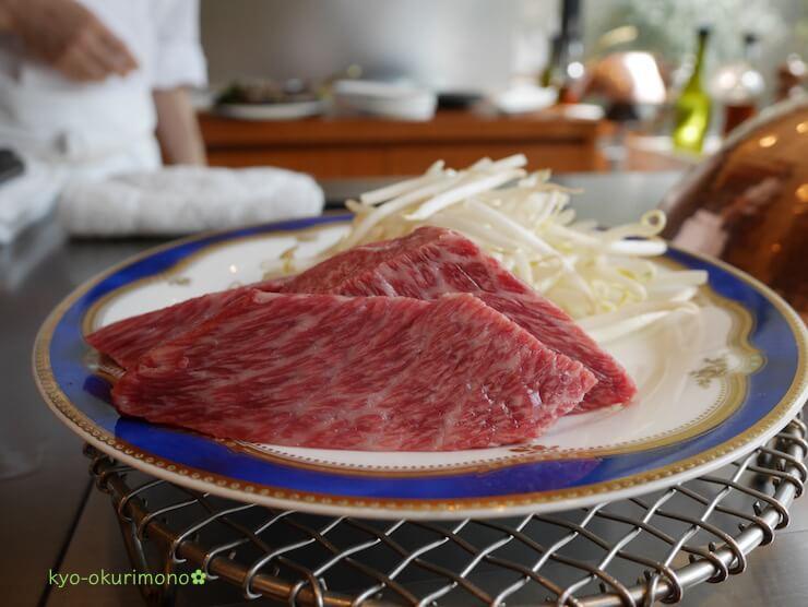 京都ブライトンホテルの鉄板焼き膰(ひもろぎ)のランチ米沢牛いちぼ80g