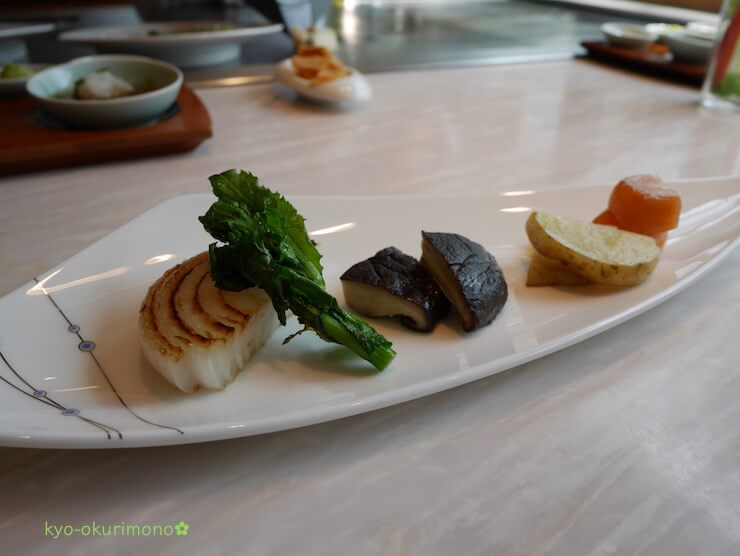 京都ブライトンホテルの鉄板焼き膰(ひもろぎ)のランチ焼き野菜