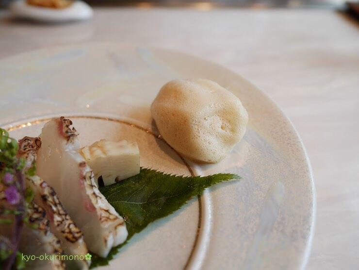 京都ブライトンホテルの鉄板焼き膰(ひもろぎ)のランチ鯛の炙り3
