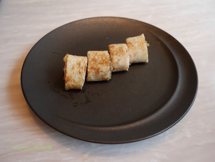 京都ブライトンホテルの鉄板焼き膰(ひもろぎ)のランチ牛肉サンド