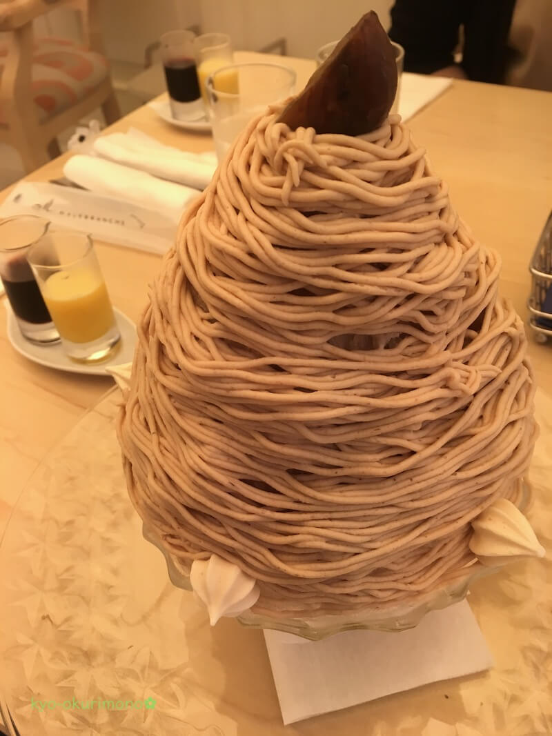 マールブランシュ北山本店のモンブランかき氷