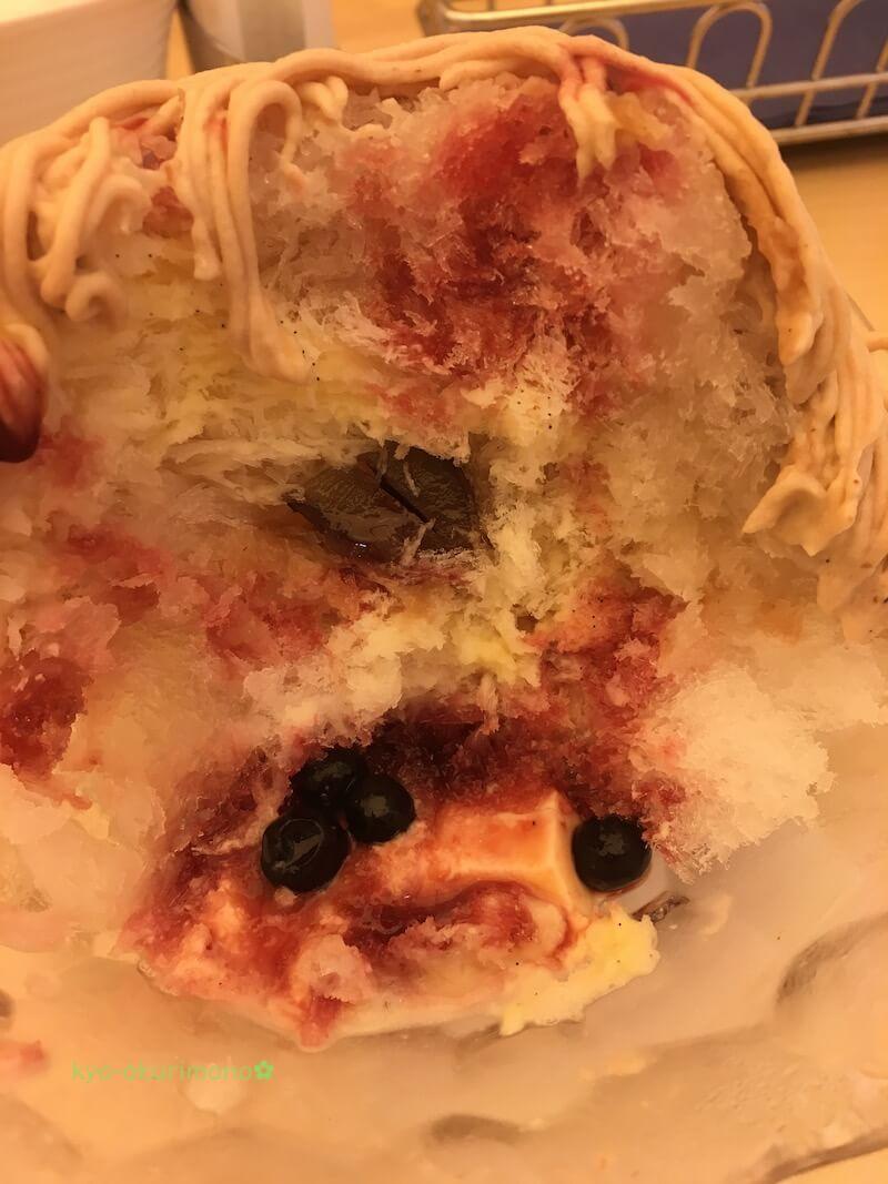 マールブランシュ北山本店のモンブランかき氷のソース
