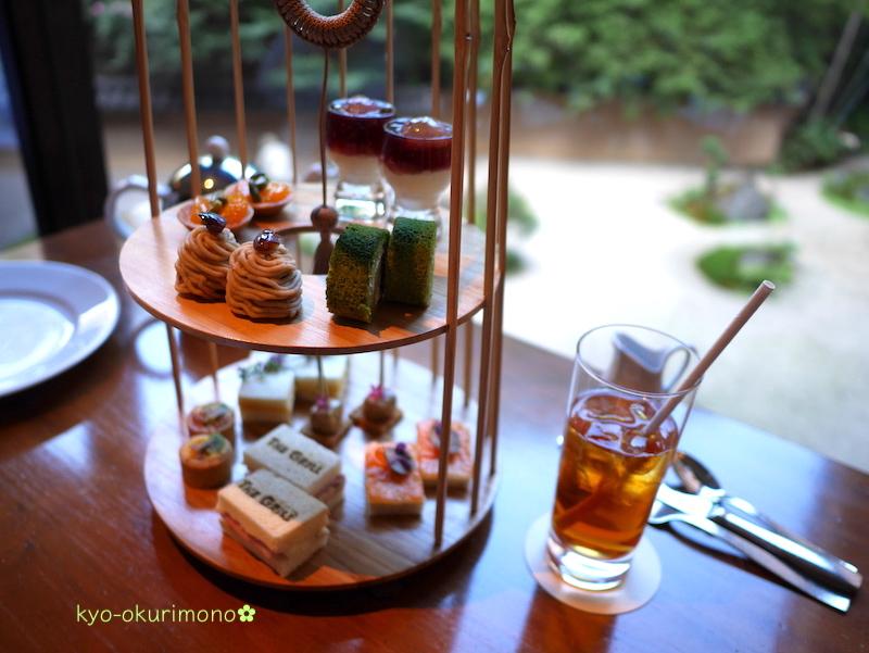 ハイアットリージェンシー京都の竹籠アフタヌーンティースタンド