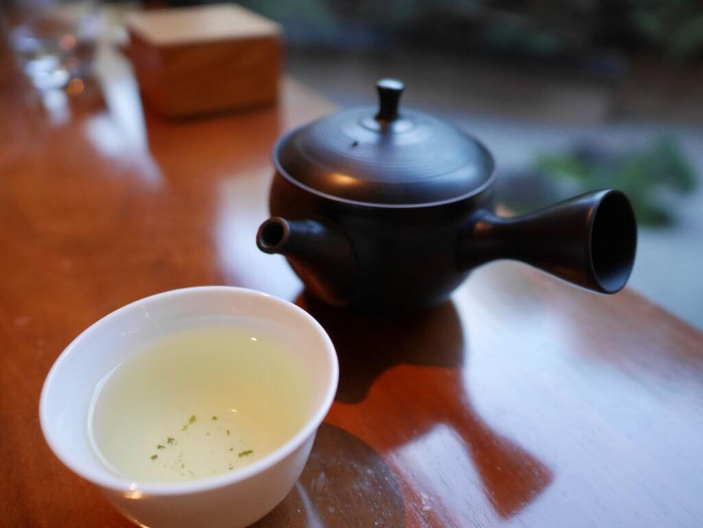 ハイアットリージェンシー京都アフタヌーンティーで一保堂茶舗の煎茶を